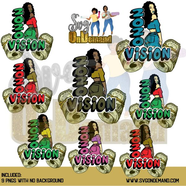 2020 VISION MONEY ROLL PNG BUNDLE