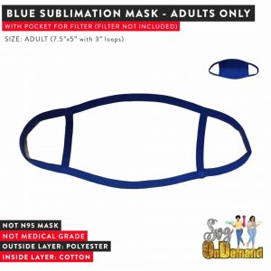 BLUE & WHITE SUBLIMATION MASKS - ADULT
