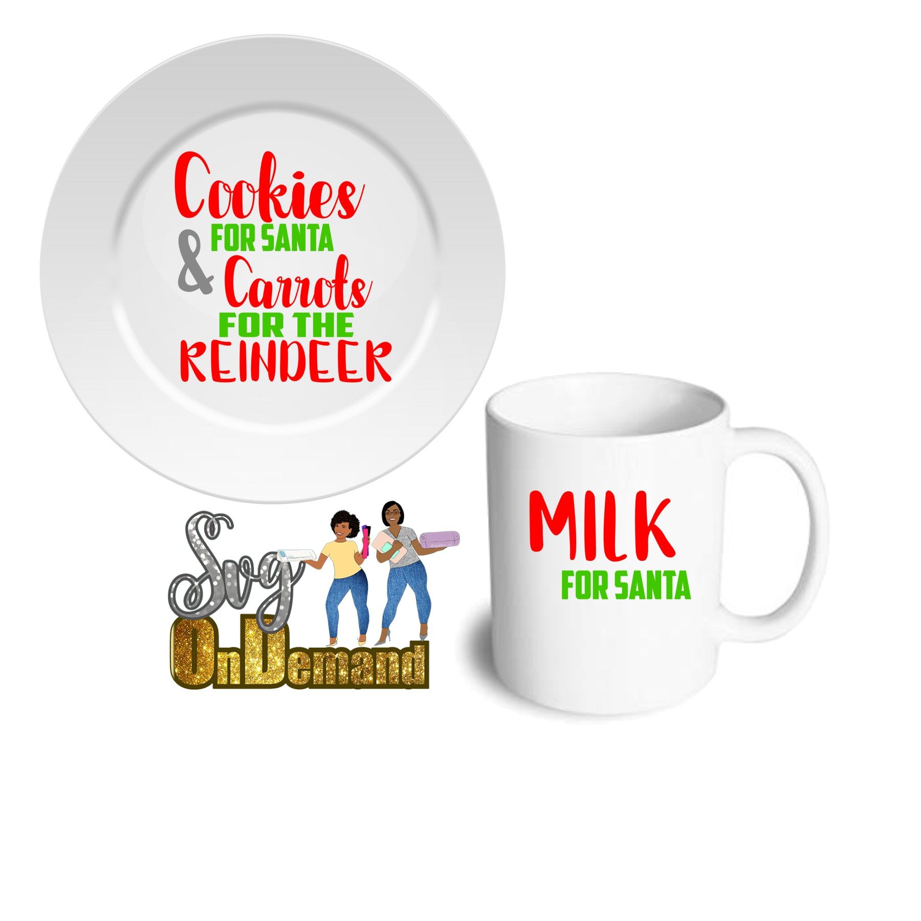 #SVGUmasterclass Santa Plate and Mug