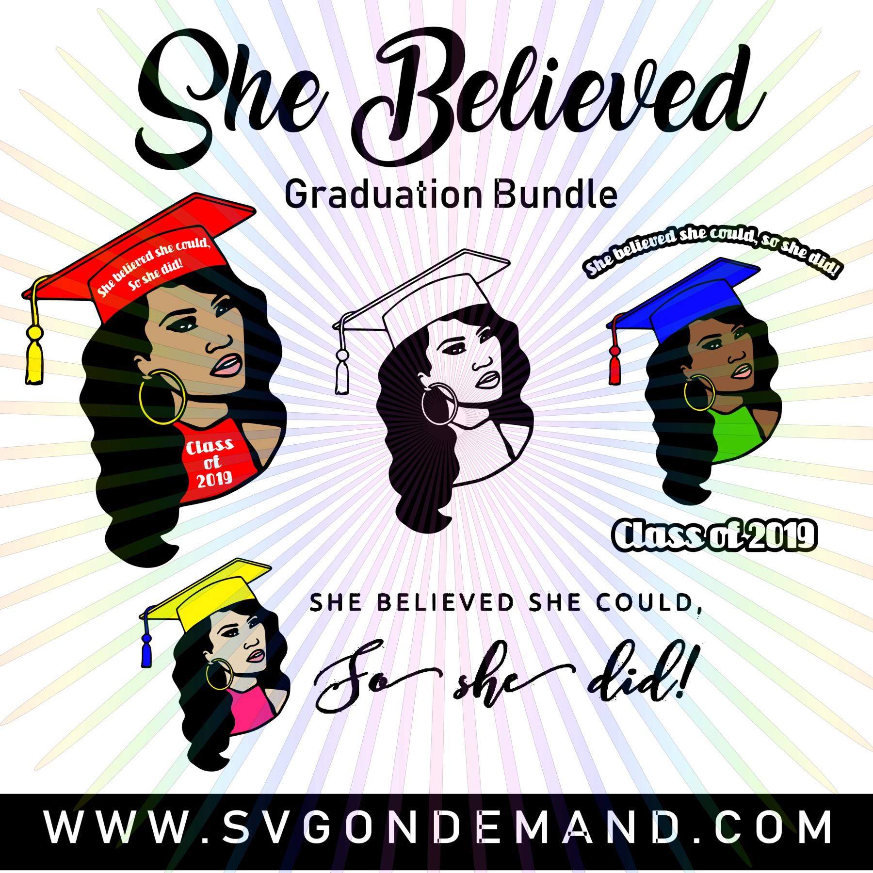 She Believed Graduation Bundle