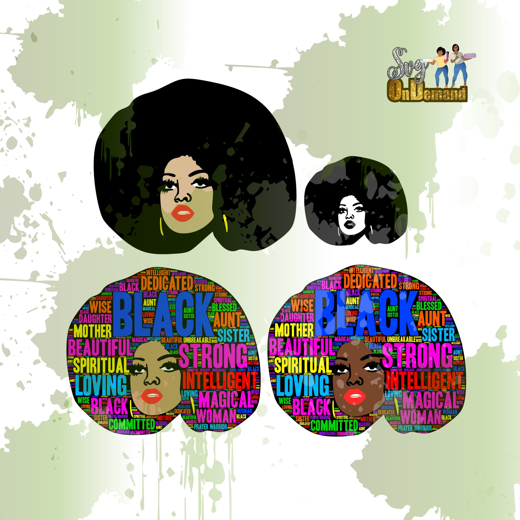 MS. AFROLICIOUS + BGM Edition Print and Cut Files