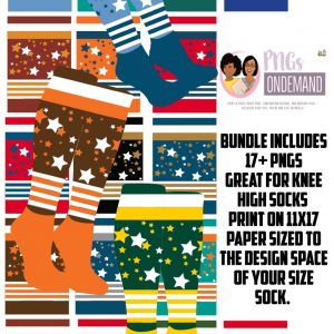 AllStar Knee High Sock Design Bundle