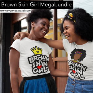 Brown Skin Girl with BONUS MOCKUP