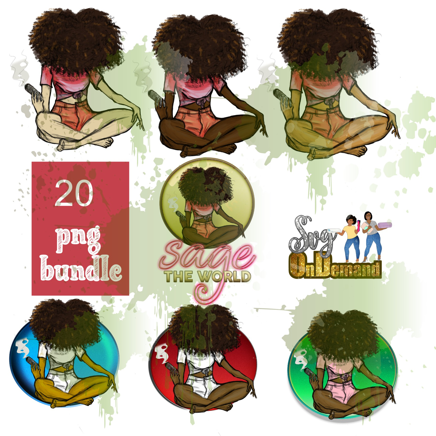 SAGE THE WORLD GIRL! PNG MEGABUNDLE with bonus MOCKUPS