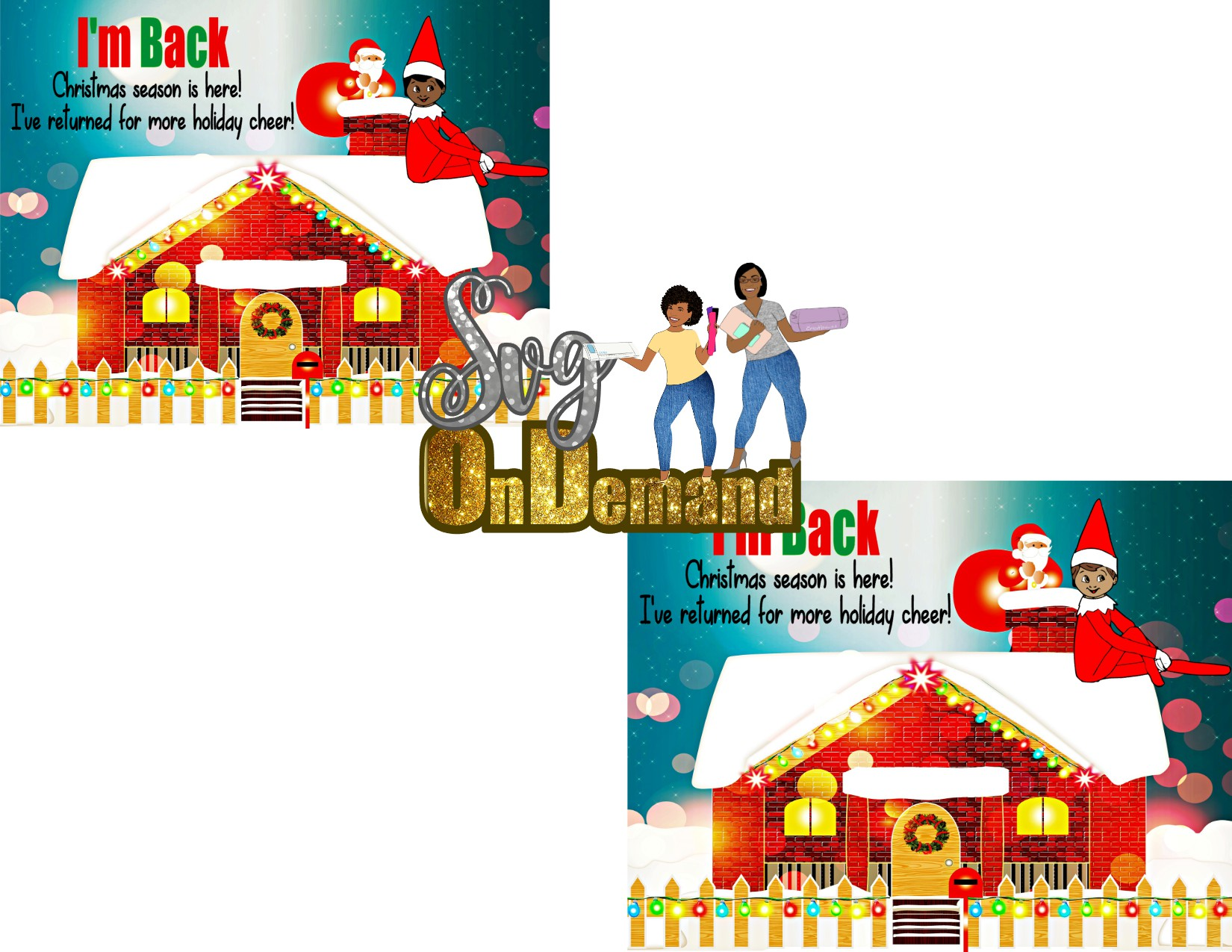 Elf on The Shelf Puzzle Template jpg Bundle